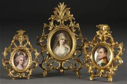 1376 3 PC GERMAN PORCELAIN MINIATURE GROUP
