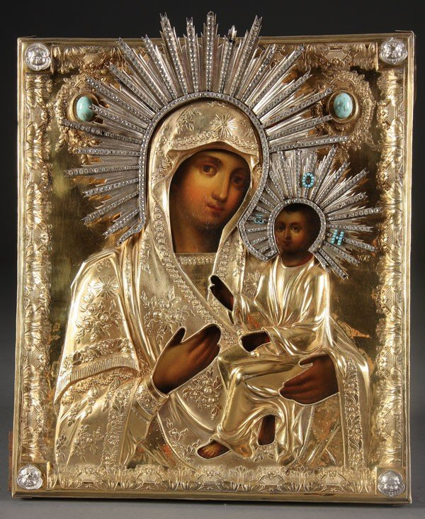 1:  RUSSIAN ICON OF THE MOTHER OF GOD, CIRCA 1825