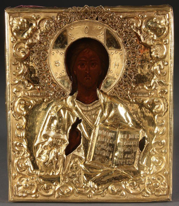 5: RUSSIAN ICON OF THE LORD ALMIGHTY, CIRCA 1856