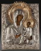 7 RUSSIAN ICON TIKHVIN MOTHER OF GOD 18TH C