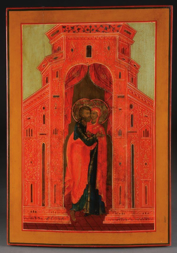12: RUSSIAN ICON CONCEPTION OF THE MOTHER OF GOD, 19TH