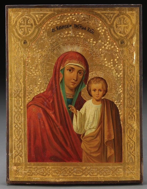 402: A RUSSIAN ICON OF THE KAZAN MOTHER OF GOD, 19TH C