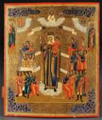 407 A RUSSIAN ICON OF THE MOTHER OF GOD C 1890