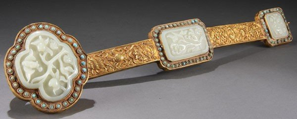 497: CHINESE CARVED WHITE JADE RUYI SCEPTER, QING