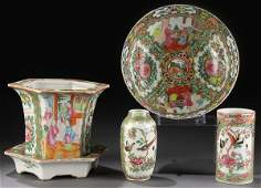 868 4PC OF CHINESE ROSE MEDALLION EXPORT PORCELAIN