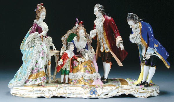 77: AN OLDEST VOLKSTEDT PORCELAIN GROUP early 20th ce