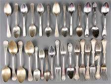 516 A 59 PIECE SET OF ASSORTED STERLING FLATWARE LAT