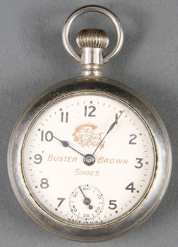 661: A BUSTER BROWN SHOES ADVERTISING POCKET WATCH