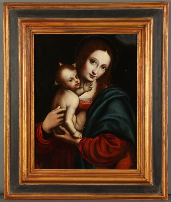 1: OLD MASTER PAINTING, MADONNA- 16TH CENTURY