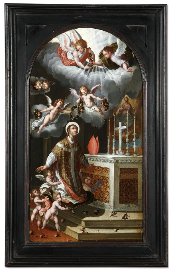 23: OLD MASTER PAINTING, DATED 1617