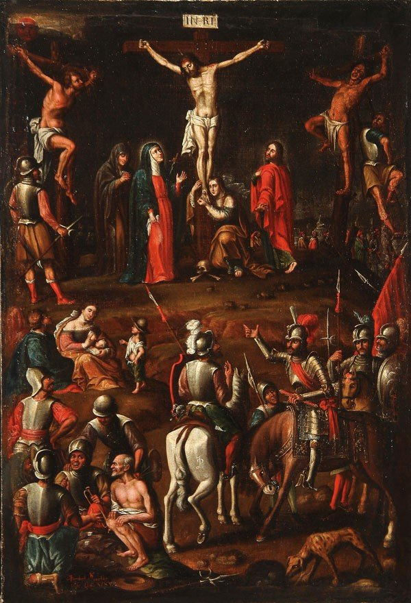 24: OLD MASTER SPANISH COLONIAL PAINTING