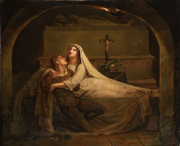 111: OIL PAINTING, ROMEO AND JULIET, CIRCA 1825