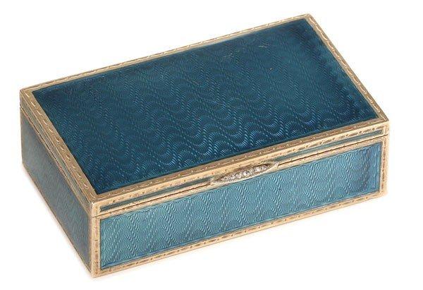 240: FABERGE ENAMEL STAMP BOX, WIGSTROM