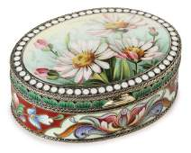 249 RUSSIAN SILVER AND ENAMELED BOX