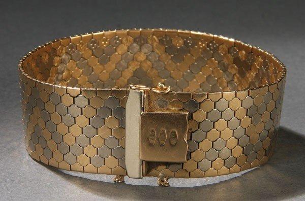 610:  UNO A ERRE ITALIAN 18K GOLD BRACELET