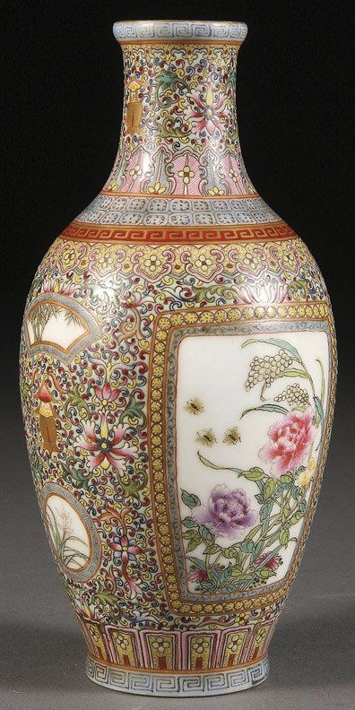 2: A  CHINESE FAMILLE ROSE IMPERIAL STYLE  VASE