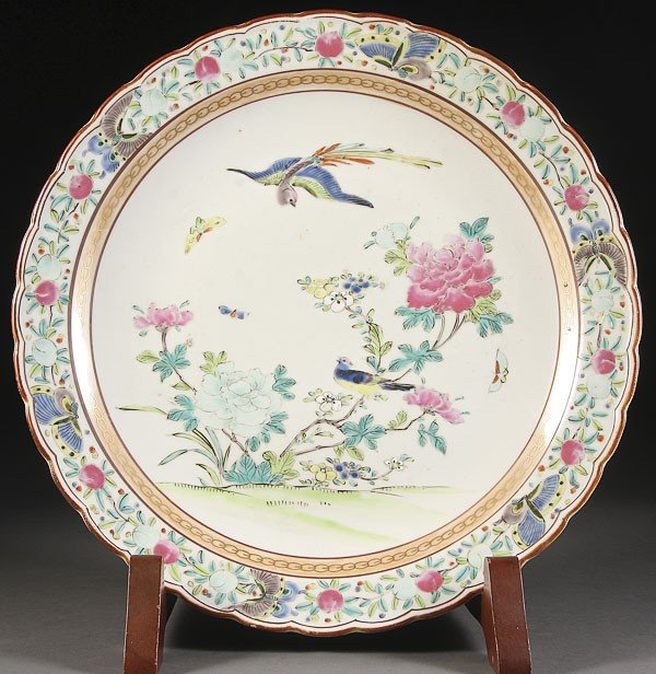 15:  CHINESE FAMILLE ROSE PORCELAIN CHARGER