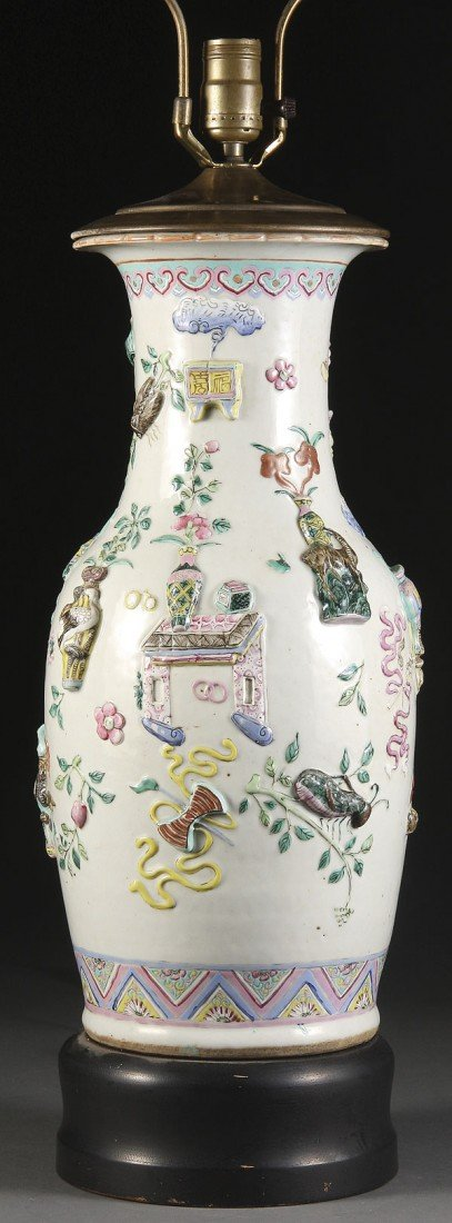 20: CHINESE PORCELAIN HAND-PAINTED FLOOR VASE