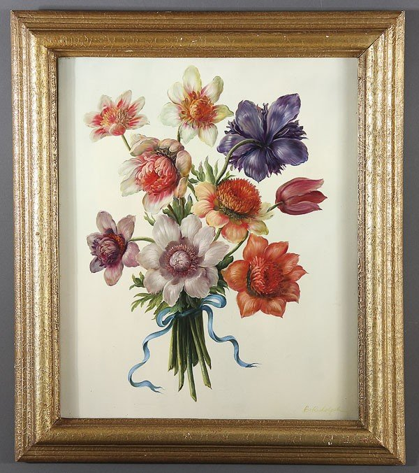 260: OIL PAINTING OF FLOWERS