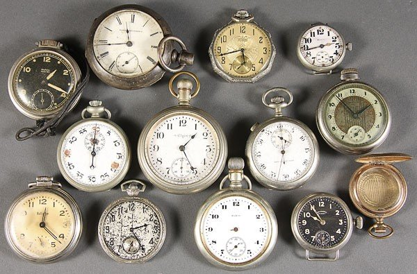 625: A GROUPING OF POCKET WATCHES
