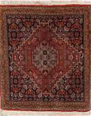 734: A PAIR OF ORIENTAL HAND WOVEN RUGS, MID 20TH CENTU