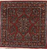 735: A PAIR OF ORIENTAL HAND WOVEN RUGS, MID 20TH CENTU