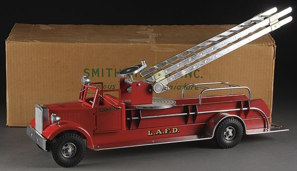 739:  TOY SMITH MILLER M.I.C. AERIAL FIRE LADDER TRUCK