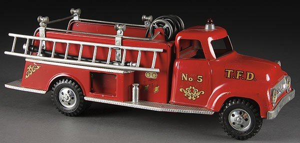 750: A GOOD TONKA TOY PUMPER FIRETRUCK, CIRCA 1956