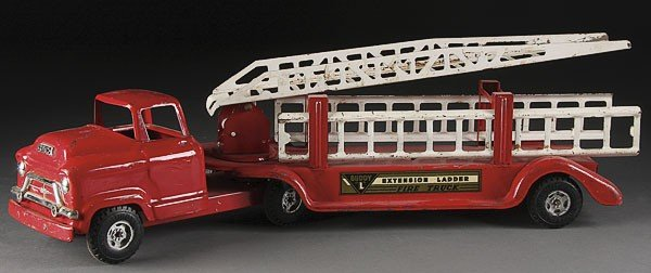 756: A BUDDY L TOY EXTENSION LADDER FIRETRUCK