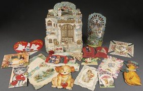 200  VINTAGE VALENTINES VICTORIAN FOLD OUTS