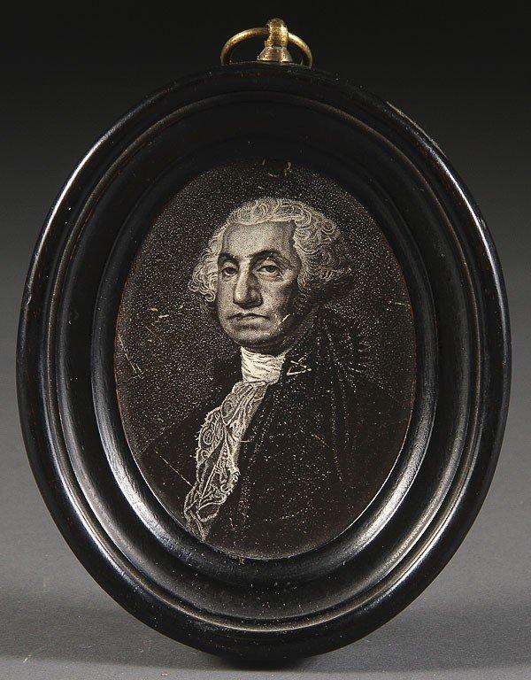 1042:  RARE ENGLISH CREAMWARE GEORGE WASHINGTON