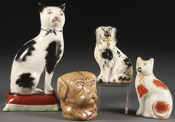 1046: STAFFORDSHIRE DOG AND CAT GROUP