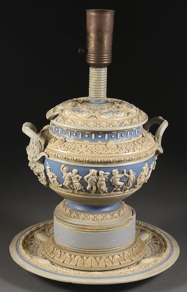 1062: A GERMAN METTLACH POTTERY PUNCH BOWL