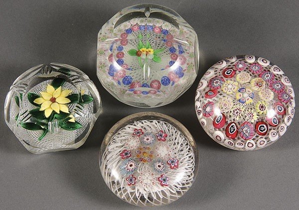 1120: THREE 19TH CENTURY AMERIC ART GLASS PAPERWEIGHTS,