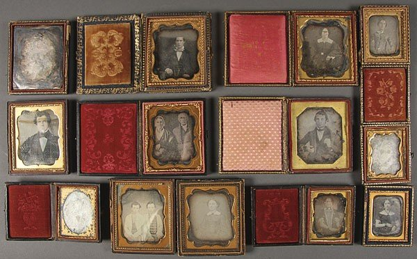 1239:  DAGUERREOTYPE COLLECTION OF 14 IMAGES