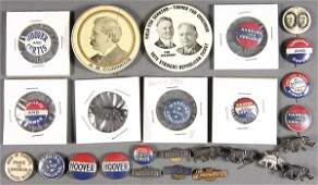 1319: A HOOVER & COOLEDGE POLITICAL BUTTON GROUP