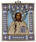 58 RUSSIAN ICON OF CHRIST OVCHINNIKOV C 1890