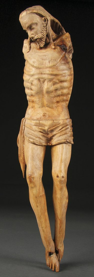 147: CARVED WOOD CORPUS CHRISTI, GERMAN, 18TH C.