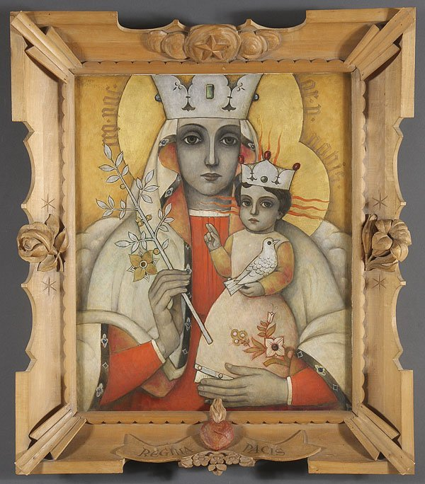 164: UNIQUE OIL PAINTING OF THE MADONNA & CHILD