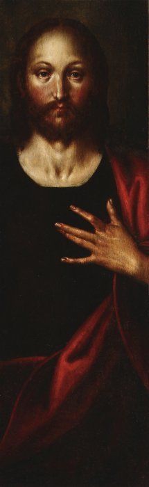 FLEMISH OIL ON PANEL PAINTING, CHRIST, 17TH CENT.