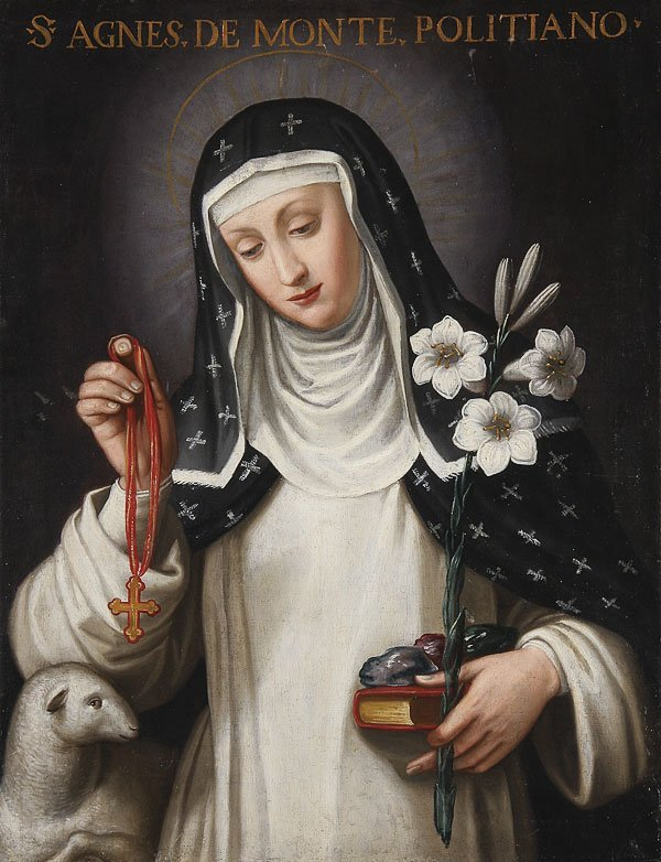 214: ITALIAN OLD MASTER OIL PAINTING, ST. AGNES