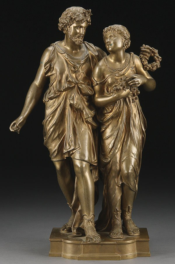 221: BRONZE OF A CLASSICAL MAN & WOMAN, DUMAIGE