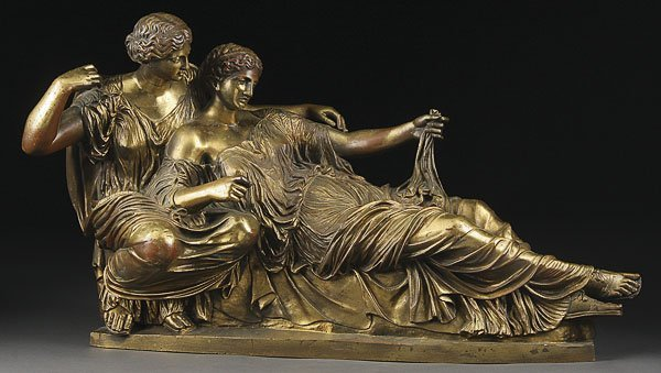 229: FRENCH BRONZE GROUPING OF THE FATES, 19TH C.