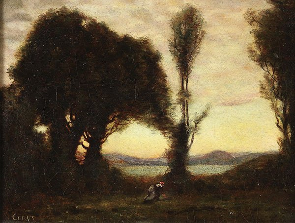 231: OIL ON CANVAS  ATTRIBUTED TO COROT