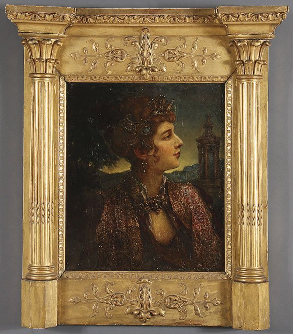 236:  FRENCH OIL PAINTING, PERSIAN WOMAN, 19TH CENTURY
