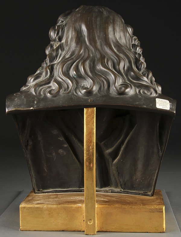 255: FRENCH BRONZE OF MOLIERE, 19TH CENTURY - 2