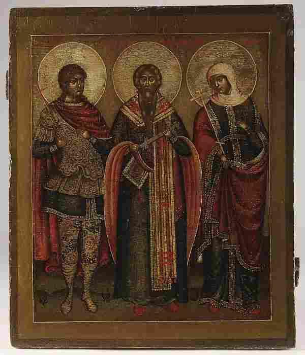 RUSSIAN ICONS- SELECTED SAINTS, YAROSLAVL, 18TH C