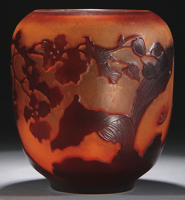 549: GALLE FRENCH CAMEO ART GLASS VASE