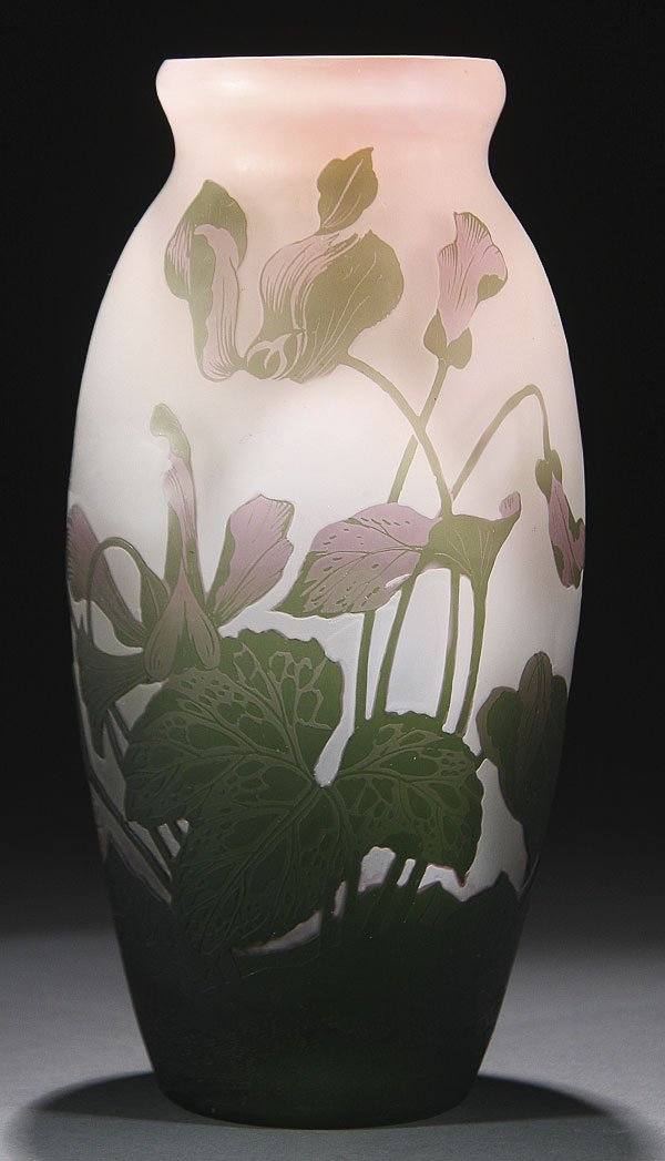 551: LARGE ARSALL FRENCH CAMEO ART GLASS VASE