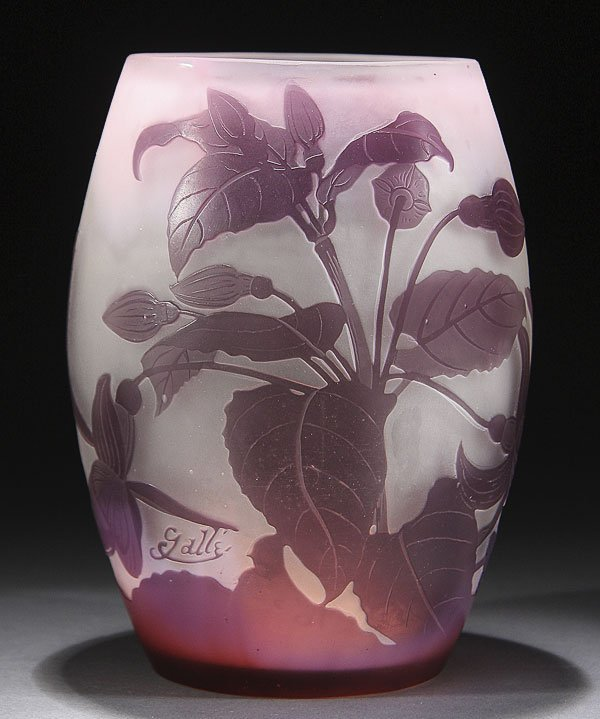558: GALLE FRENCH CAMEO ART GLASS VASE